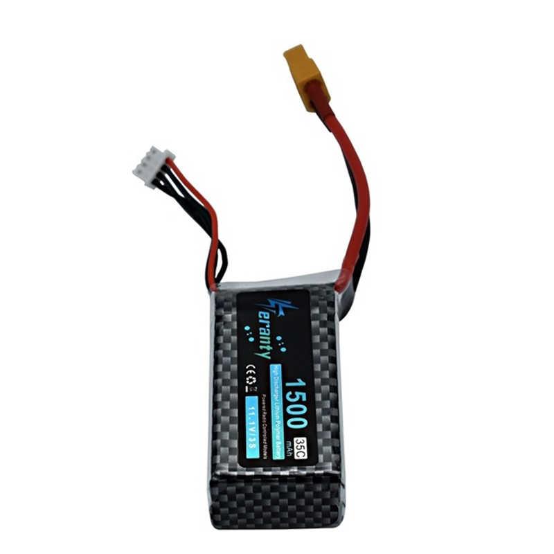 Batterie Lipo 3S LiPo 11.1 v 1500mAh 35C T/XT60/JST/EC3 pour voiture RC/avion/hélicoptère 11.1 v batterie Lipo Rechargeable 2 pièces