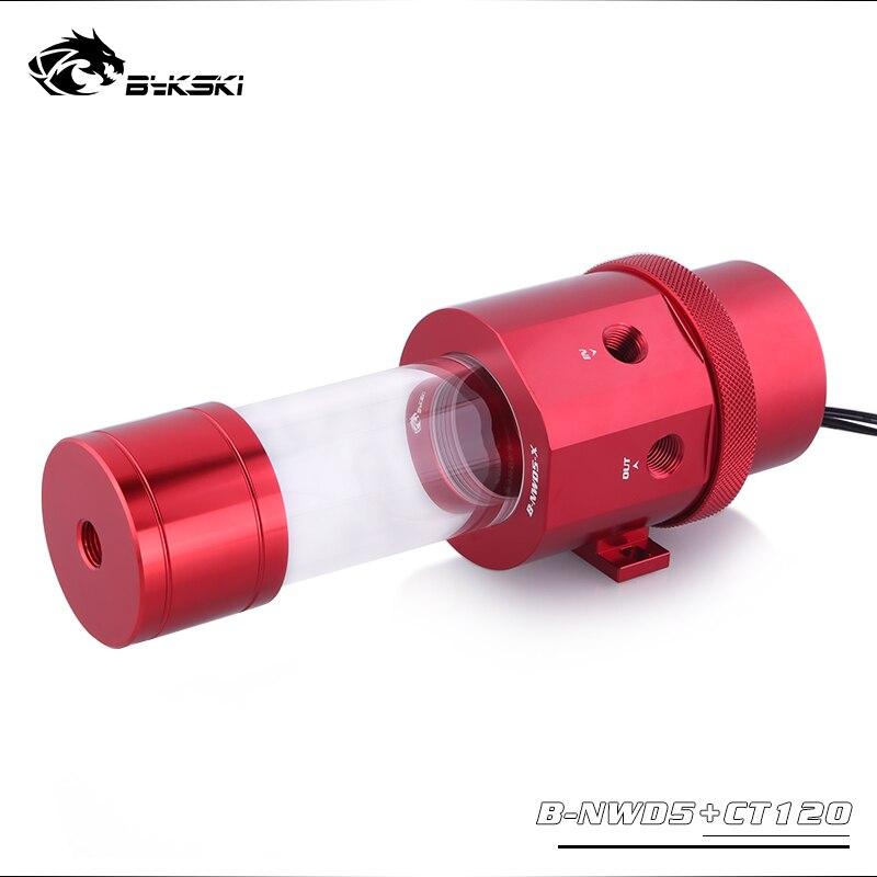 Bykski 18W D5 Combo Pump + Reservoir Maximum 5000RPM / Flow Lift 3.8 Meter / 1100L/H Water Cylinder Tank Length 120/170/230mm