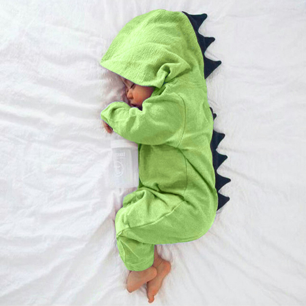 MUQGEW baby costume jumpsuit summer children clothing Boy Girl Dinosaur Hooded Romper Jumpsuit Outfits Clothes summer 2017 baby kids girl boy infant summer sleeveless romper harlan jumpsuit clothes outfits 0 24m
