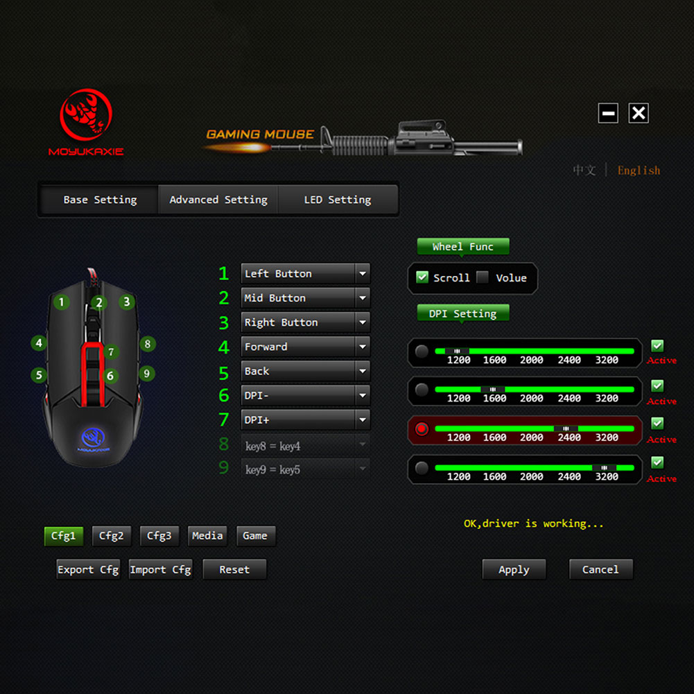 LED USB Wired Gaming Mouse 3200DPI Mechanical Macros Define Gamer PC Laptop Computer Mice XXM8