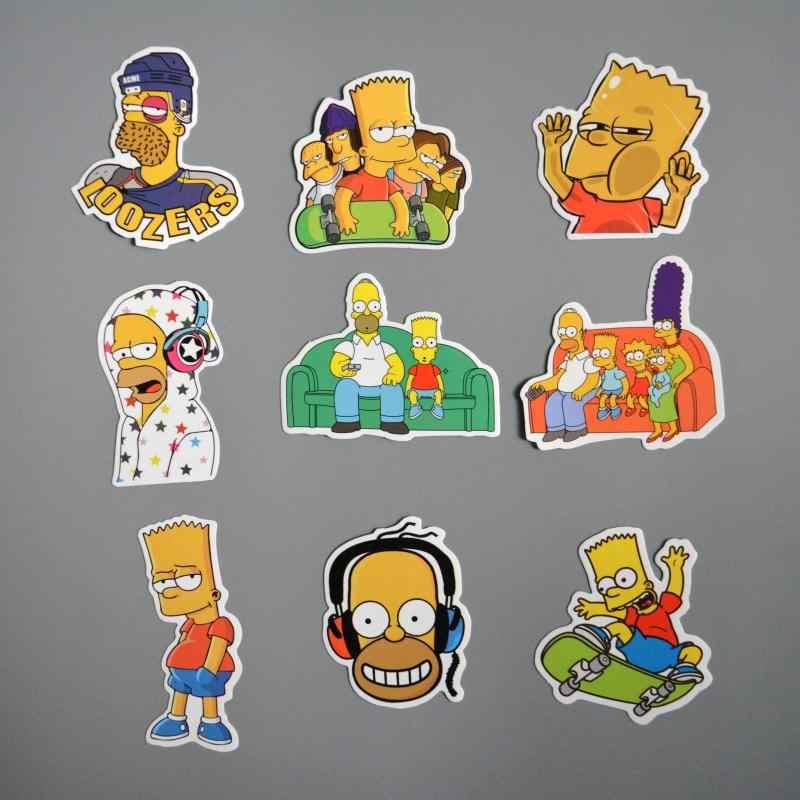 25 шт./лот аниме Наклейка виниловая мультяшная Симпсоны наклейка s ноутбук наклейка холодильник автомобиль скейтборд ПВХ граффити Дети стикер s