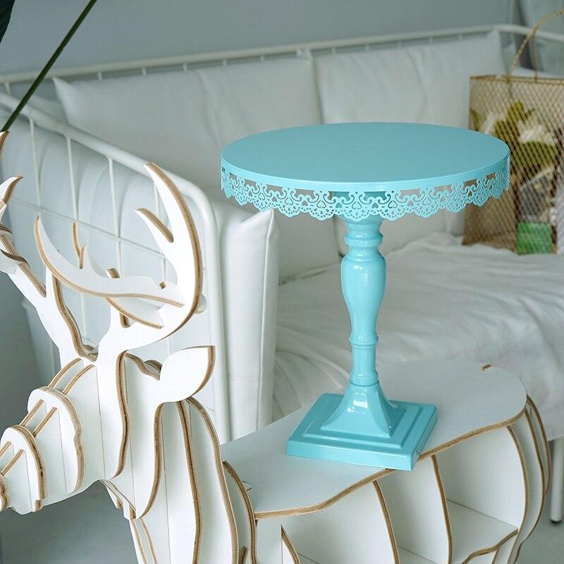 SWEETGO Tiffany modrý dort stojan čtvereční nohy stojan nás Cupcake držák nástroje pro svatební hostinu Bakeware nástroje stolní dekorace