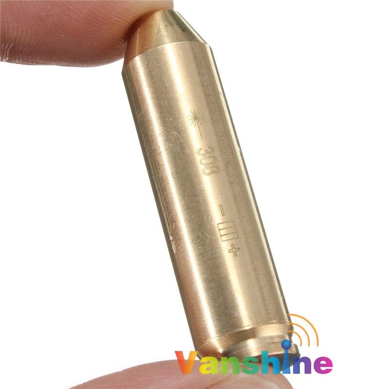 308 243 patrone Laser Bohrung Sighter/. 243. 308 bohrung Anblick Messing Schussprüfer Jagd Optics Red Laser Schießen Zubehör