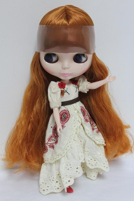 Free Shipping big discount RBL-97DIY Nude Blyth doll birthday gift for girl 4 colour big eyes dolls with beautiful Hair cute toy браслет цепь 925 6 bracelet fashion bracelet silver fs010
