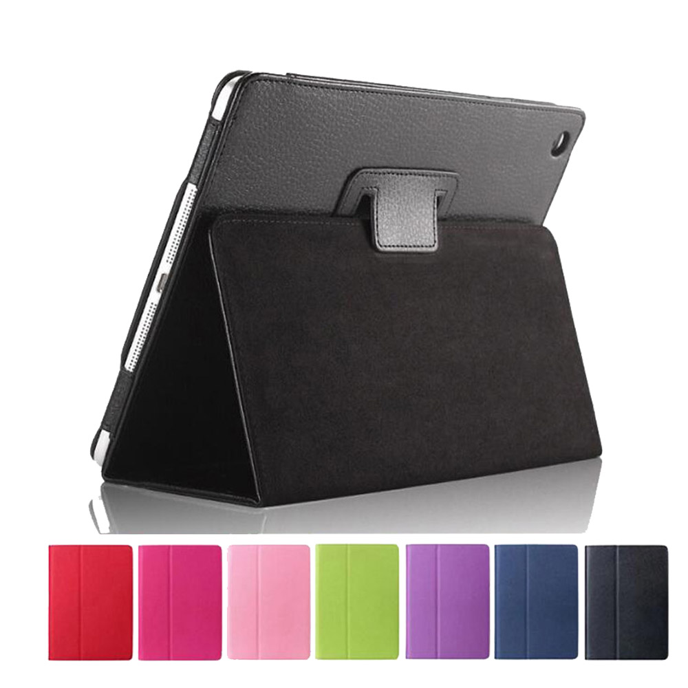 Case For Ipad 9.7 Slim Folding Stand Smart Cover Auto Wake PU Leather Case For Ipad 2017 9.7 Inch For Ipad Air 1 Air 2+Pen