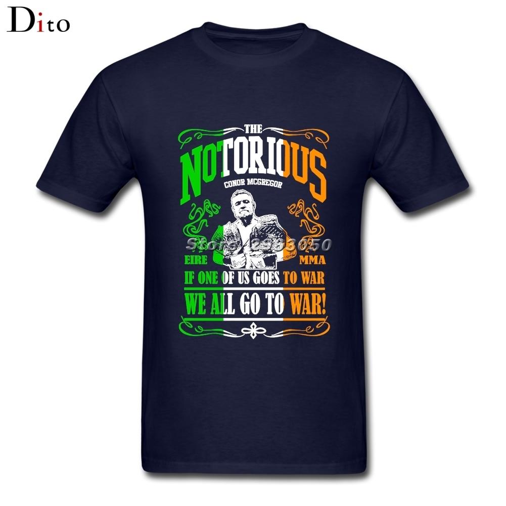 Conor Mcgregor MMA Boxinger Fighter Tee Shirt Men Summer Short Sleeve Cotton Custom Plus Size Couple T-shirts