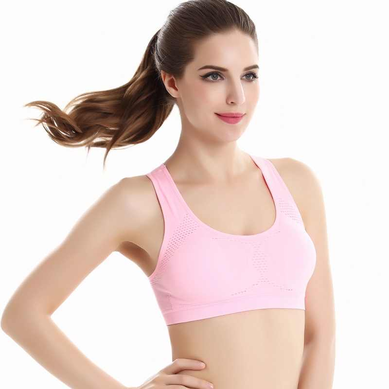 9d897d6d06 ... Women Workout Stretch Tank Top Yoga Padded Vest Sport Bra Top Racerback Sports  Bra