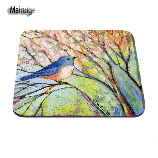 Peintures doiseaux de la Nature sur toile personnalisé haute vitesse nouveau jeu populaire Logo Vintage élégant tapis de souris jeu Rectangle tapis de souris