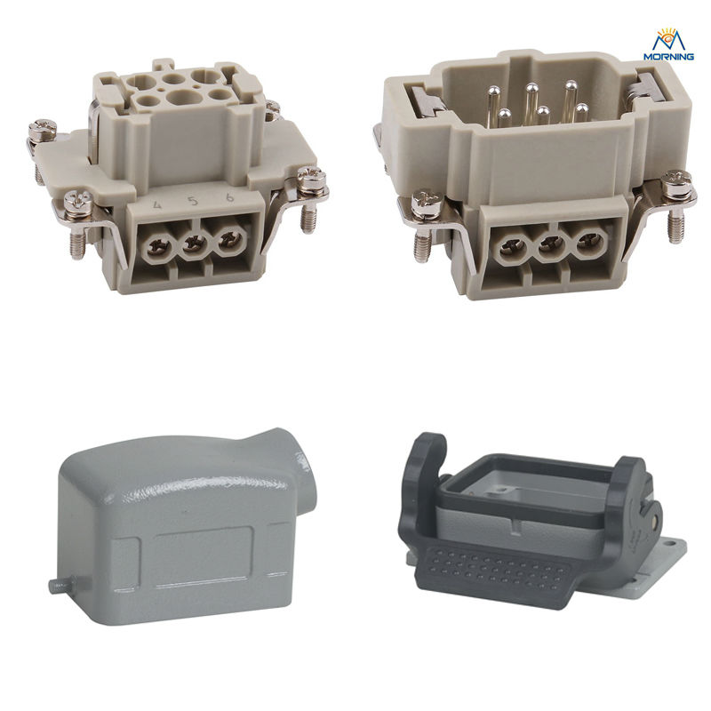 Whole set HE-006 16A 500V Heavy Duty electronic Connector 6pins whole set selling 16 folding mother