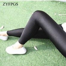 ZYFPGS 2019 Autumn Leggings Slim Sexy Plus Size Close-fitting Elasticity Fitness 5XL Thin Section Womans Pants Z0804