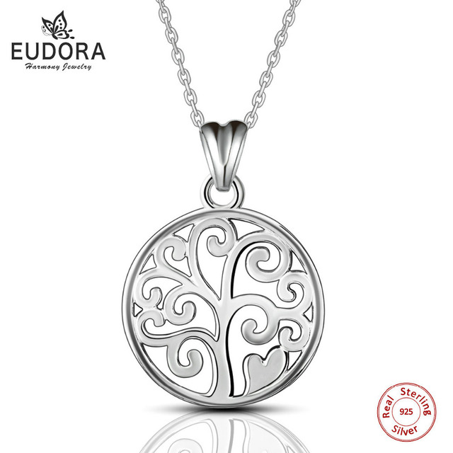 Tree of life necklace sterling silver 925 family tree u2SEjfT