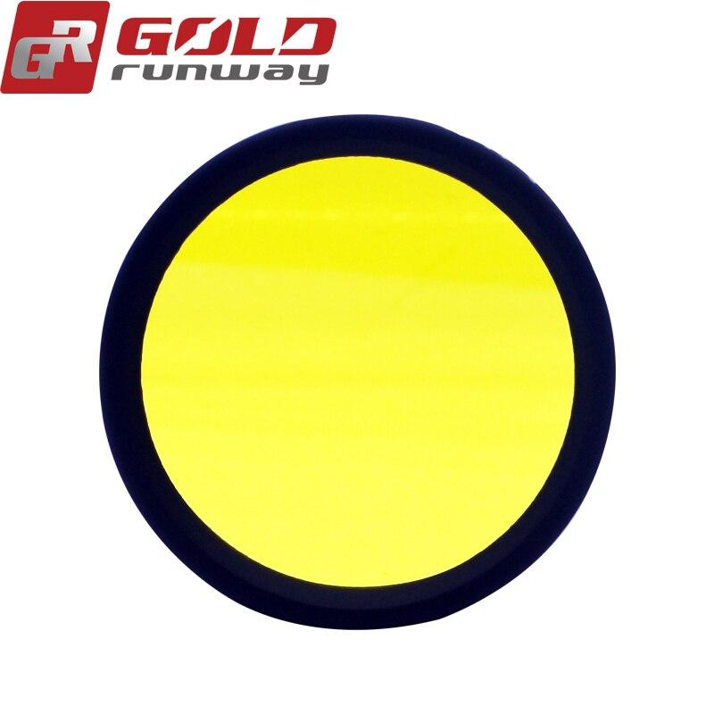 2 piezas amarillo haz de conducción lentes para GOLDRUNWAY GR EXP3 EXP4 30X