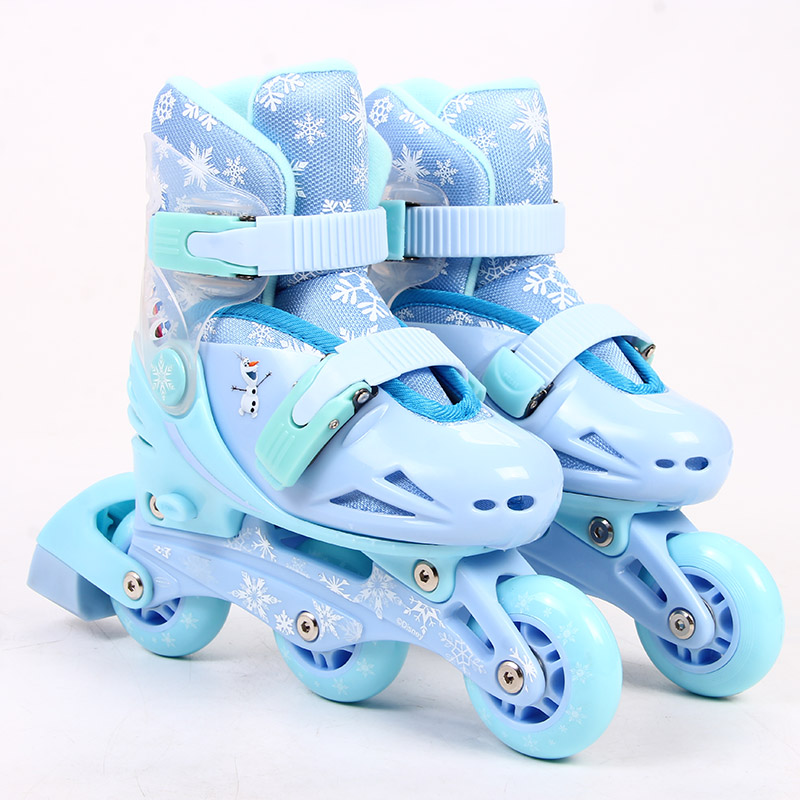 Inline Kid's Roller Skates Size Adjustable Inline Skates Shoe For Children Patines Frozen Girls Skating Best toy gift цена