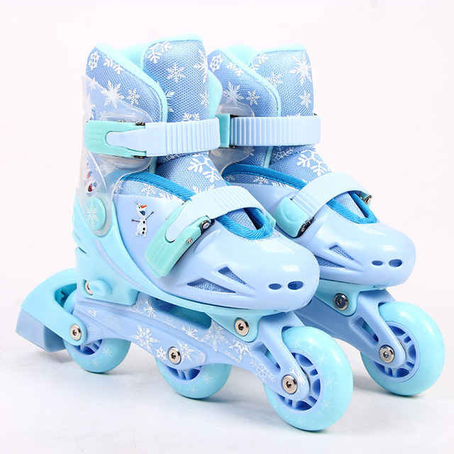 Inline Kid s Roller Skates Size Adjustable Inline Skates Shoe For Children  Patines Frozen Girls Skating Best toy gift -in Skate Shoes from Sports ... 8eb60e60be16b