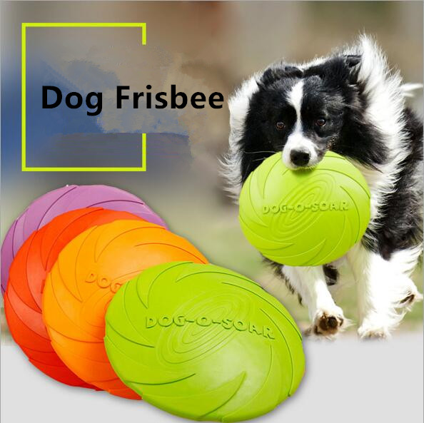 Outdoor Soft Eco-friendly Silicone Rubber Dog Frisbee Pet Tooth Resistant Fetch Toys Dogs Training Flying Disc Playing Toy Int