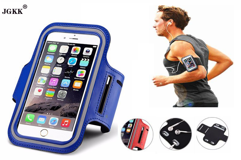 JGKK Durable Running Jogging Sports Arm Band Strap Case Cover for iPhone 5 5S 5C SE Waterproof Phone Bag Case