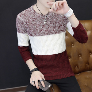 Image 4 - Autumn Winter Men Saweaters O Neck Long Sleeve Knitting Slim Fit Knittwear Mens Sweaters Pullovers Pullover Men Pull Homme
