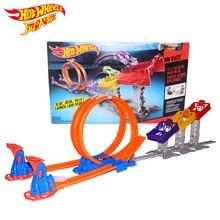 Горячие колеса лимит прыжок трек игрушка Дети электрические игрушки квадратный город миниатюрный автомобиль Модель Классические антикварные автомобили Hotwheels DJC05
