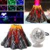 Behokic Aquarium Volcano Shape Ornament Kit Fish Tank Decoration Colored USB Port LED Dive Lamp Set for Decorate Fish Tank
