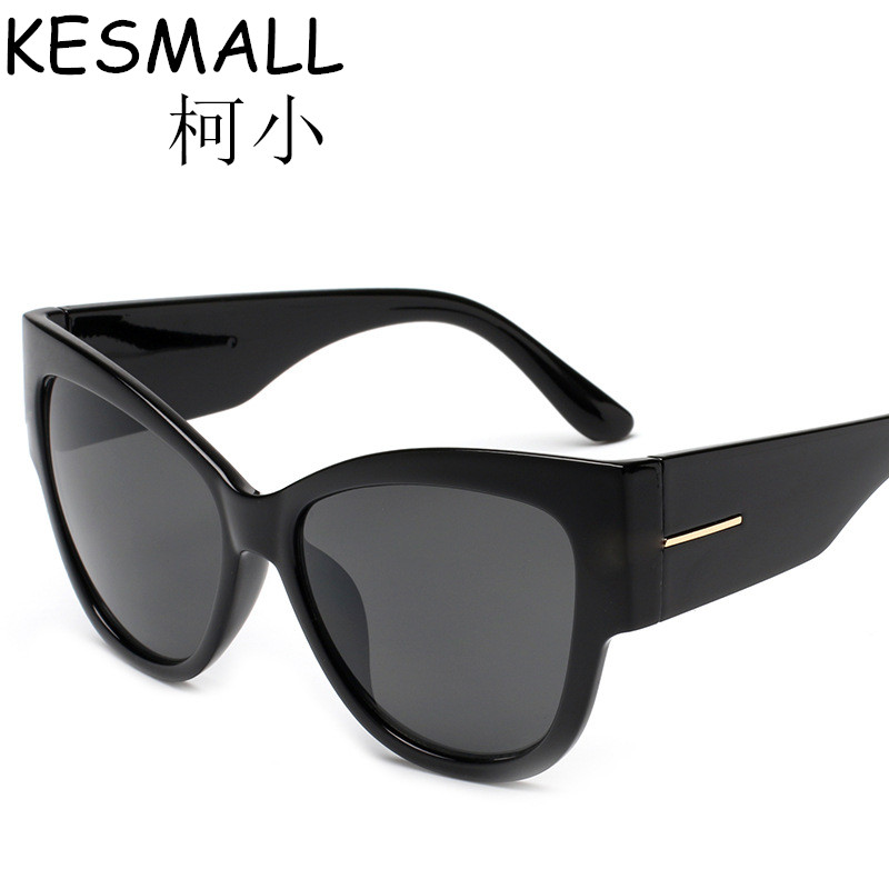 Eyewear 2018 New Women Cat Eye Sunglasses Googles Sun Glasses Full Black Frame Oculos De Sol UV400 Brand Deisgn Eyeglasses YJ675