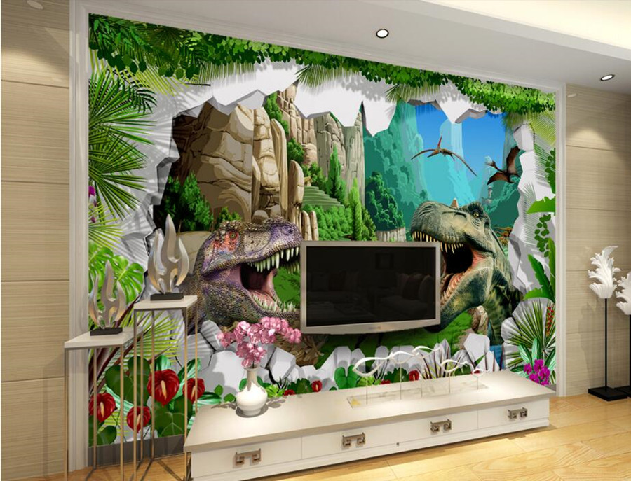 large 3d murals chinese great wall wallpaper papel de parede restaurant living room sofa tv wall bedroom wall papers home decor Large murals,Ancient dinosaur era 3D stereo wallpaper murals,living room sofa TV wall bedroom 3d kids wallpaper papel de parede