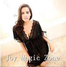 yomrzl L442 new arrival summer sexy lace women s nightgown good quality deep v gauze sleepwear