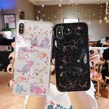 Luxury Bling Glitter Case for iPhone 7 For 8 6 6S Plus X XR XS MAX Back Cover Lovely Cat Soft Silicone Phone Cases