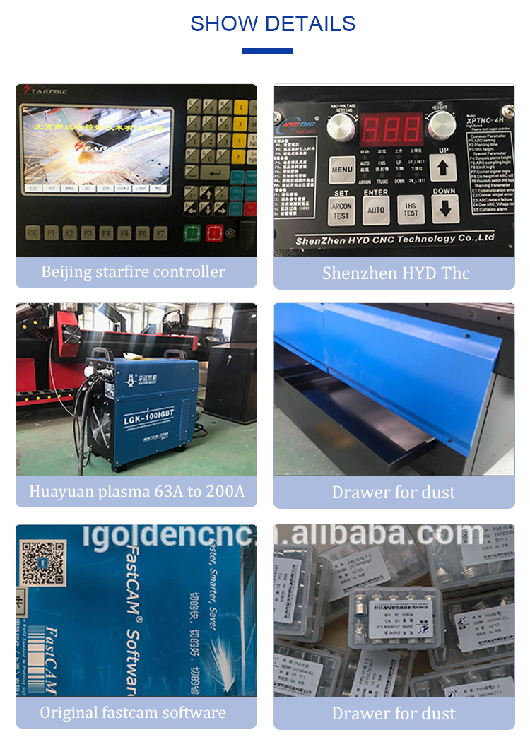 Automatic Gantry Milling Drilling CNC Plasma Cutting Cutter Machine for Sheet Metal Stainless Steel 6