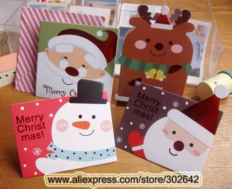 Aliexpresscom Buy 64pcs Xmas Greeting Card Business Cards