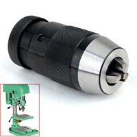 1pc B18 Keyless Drill Chuck Adapter Self Locking Tighten Taper Drill Chuck 1 16mm For Lathe