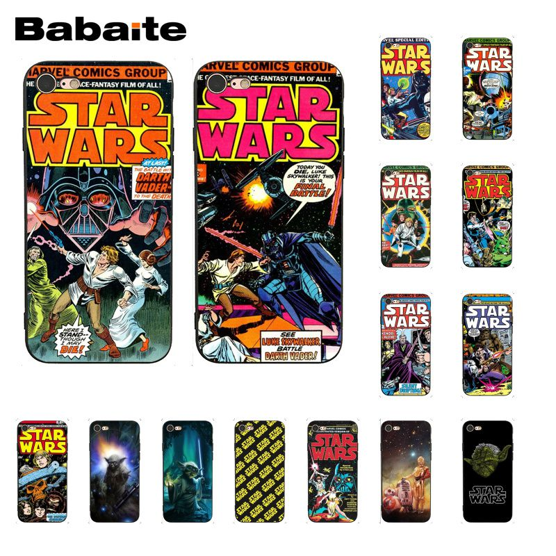 Babaite Star Wars Movie Comic Guys Holding BB-8 Phone Case for iphone 11 Pro 11Pro Max 8 7 6 6S Plus X XS MAX 5 5S SE XR image