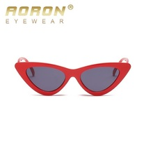 206befc1b0d 2018 Hot Sexy Cat Eye Sunglasses Women Retro Red Small Triangle Vintage  Cheap Ray Sun Glasses