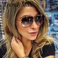 2017 Men Brand Designer Vintage Pilot Sun Glasses For Male Oversized Shades Retro Female Steampunk Sunglasses