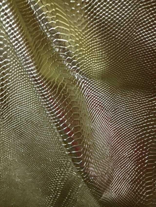 Мода Металлик змея тиснением из натуральной коровьей кожи Ткань Материал, 20SF/Лот, 1.0-1.3 мм, бесплатная доставка