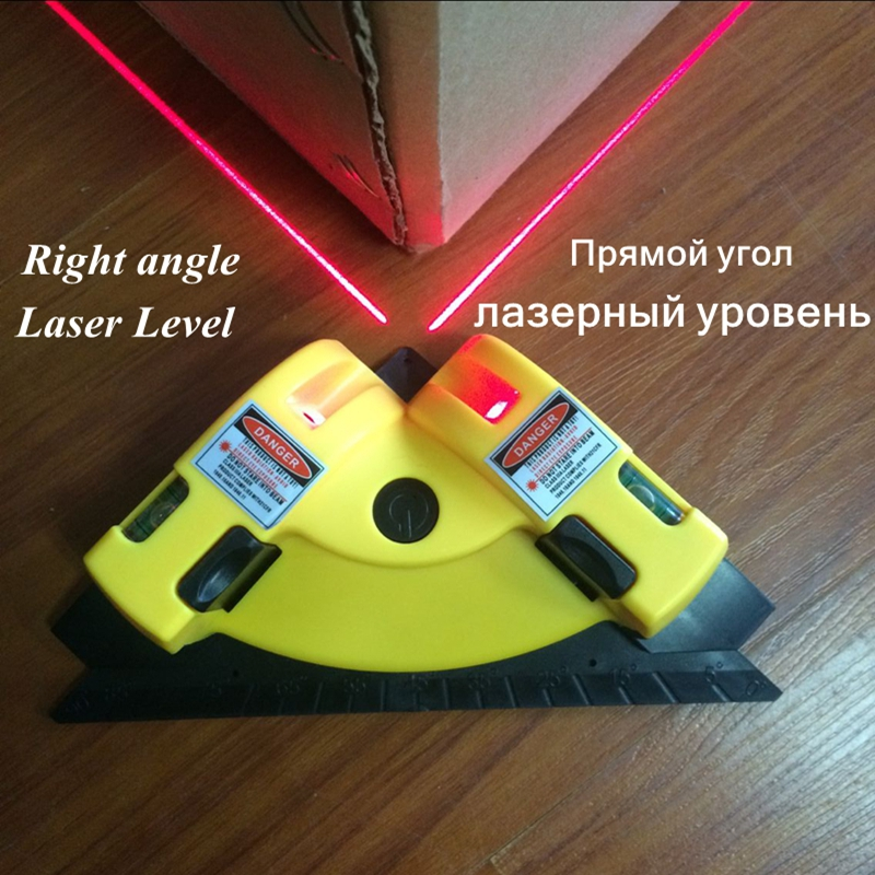 Right Angle 90 Degree Vertical Horizontal Laser Line Projection Square Level Infrared Laser Level Measurement Tool стоимость