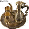 Four Piece Bar Set Russia Bronze Wine Set Gold Red Copper Men S Gift Goblets Winepot