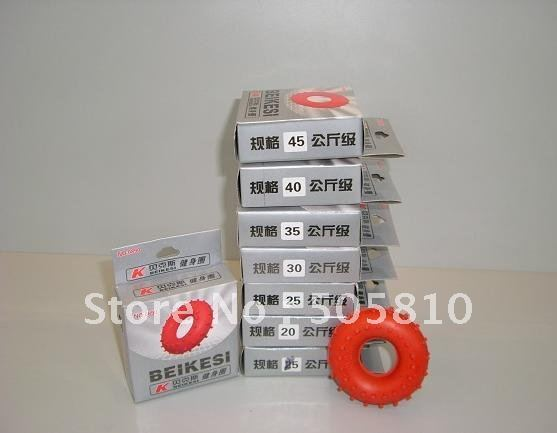 Whole sale - Free Shipping - New Rubber Grip Hand Gripper Device Ring Grip Strength 15kg - 45Kg Red SP-026