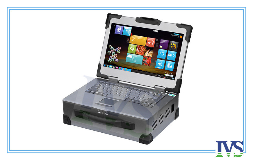 Stable Industrial Portable Pc With 14'' Led Screen & Silica Waterproof Touchpad 88keys, Standard 14