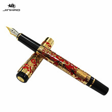 1pc Jinhao Unique Design 0.5mm Fountain Pen Fine Nib Business Gift Student Writing Iraurita Ink Pens School Office Supplie