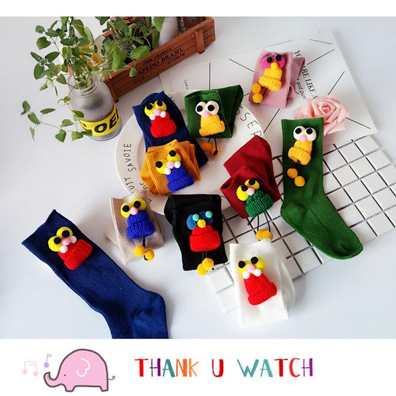 New cotton children socks warm font b baby b font feet new cartoon eye socks cute