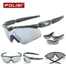 POLISI Cycling Glasses Professional Anti-Abrasion Bike Riding Sports Sunglasses Sportswear Bicycle Cycling Eyewear Glasses UV400