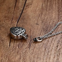 Women Necklaces Stainless Steel Cremation Urn Jewelry