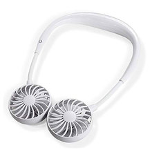 Персональный вентилятор портативный мини двойной ветровой головкой шейный платок вентилятор с USB Перезаряжаемый для путешествий на открытом воздухе офис