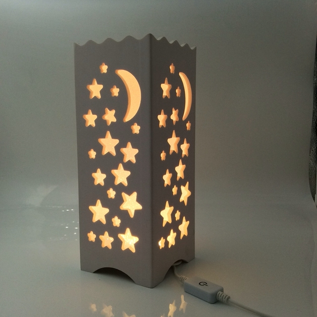 Soft Warmlight USB 5V Carving design LED table lamp Night light for ...