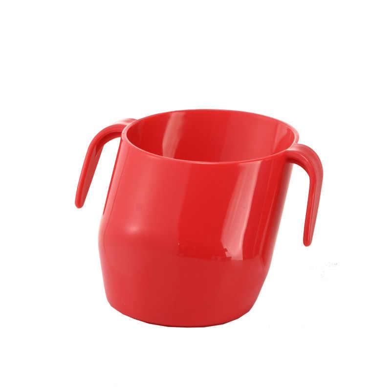 การเรียนรู้เด็กดื่มถ้วยทารกฉนวนกันความร้อน Tumble ทน Oblique ปากถ้วยเด็กน่ารักดื่มขวด T2157