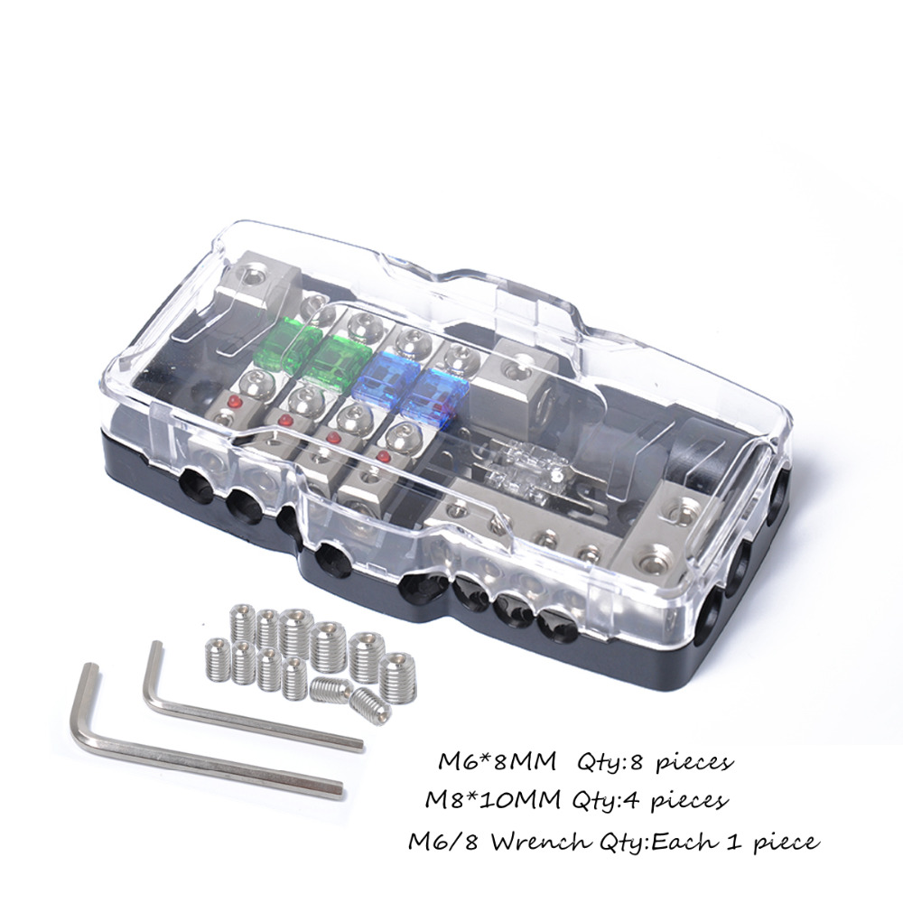 car audio stereo distribution fuse block with ground mini anl fuse fuse box neutral ground car [ 1000 x 1000 Pixel ]