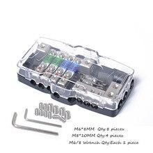 Многофункциональный светодиодный аудио стерео мини АНЛ предохранителей с 4 способ Блок предохранителей 30A 60A 80Amp и батарея распределения 0/4ga