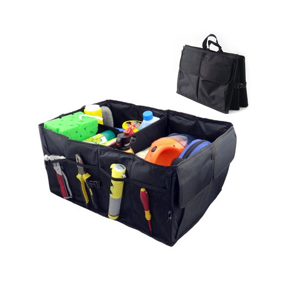 Outdoor Oxford Fabric Multipurpose Folding Car Organizer Trunk Organizer Cargo Storage Container Great for Travelling Camping SS water resistant drop protection storage container organizer box for chips batteries gadgets