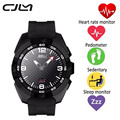 Cjlm smart watch no. 1 g5 9.9mm ultra-delgada del ritmo cardíaco smartwatch podómetro deporte montre conector de control de voz para ios android