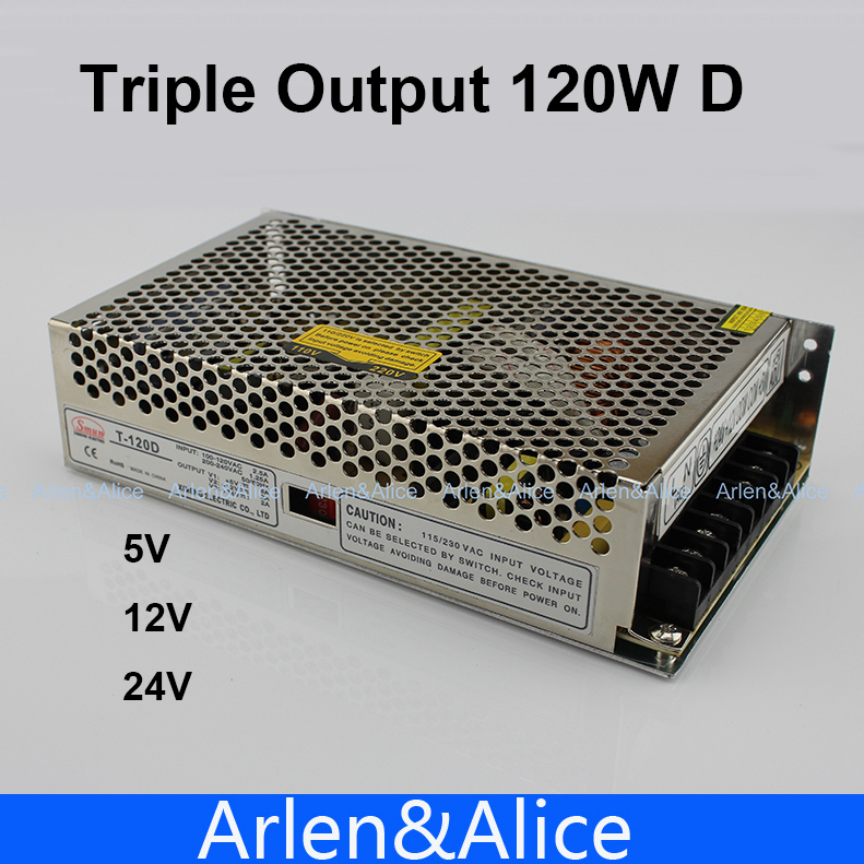 120W D Triple output 5V 12V 24V Switching power supply smps AC to DC SMPS 30w triple output 5v 24v 12v switching power supply smps ac to dc
